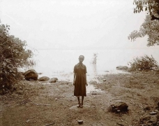 Girl at Lakeshore, Ethiopia, 2006, toned gelatin silver print, 12 x 10 inches