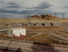 David T. Hanson, Bachelor Village and power transmission corridor, Colstrip, MT,  1984, vintage Ektacolor print, 11 x 14 inches