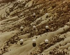 Nine Desert Snowballs, Hell's Half Acre, Wyoming, 1977