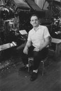 Linotype operator, Detroit, 1968