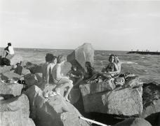Group of Teens on Rocks