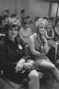 Sales meeting in an auditorium, Detroit, 1968