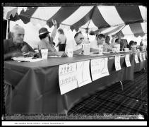 1984 Kielbasa Eating Contest, Chicopee, Massachusetts, vintage gelatin silver print