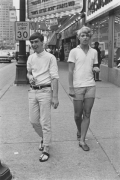 Two young men on Woodward Avenue, Detroit, 1968