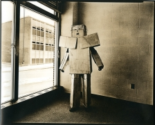untitled (from the series, Uranium Robots), 1976, vintage gelatin silver print (Kodalith)