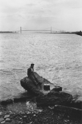 The Ambassador Bridge, spanning the Detroit River, Detroit, 1968