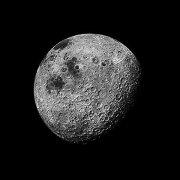 109, The Moon Seen From 1000 Miles, Showing Farside Highlands, Apollo 16, April 16-27, 1972, digital c-print,  39.5 x 39.5 inches