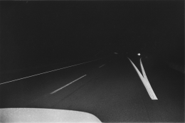 Night Driving, 1974, vintage gelatin silver print