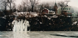 John Pfahl, Ice Falls, Erie Canal, Little Falls, New York	, 1989, Ektacolor print, 24 x 30 inches