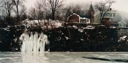 John Pfahl, Ice Falls, Erie Canal, Little Falls, New York, 1989, Ektacolor print, 24 x 30 inches