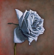 Sterling Silver Rose, hand-colored gelatin silver print, 32 x 32 inches