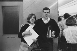 Students at school, Detroit, 1968