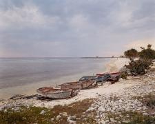 Fishing Boats and Military Watchtower, Playa Girón, Cuba, 2004