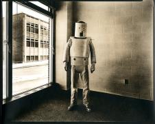untitled (from the series,Uranium Robots), 1976, vintage gelatin silver print (Kodalith)