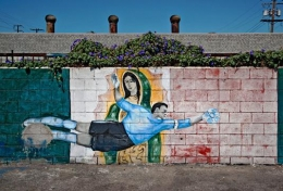 KittyKat Bar Parking Lot Mural, Vernon, California, 2011