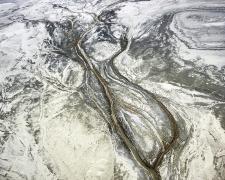 Carson River Flowing to Carson Sink, Looking Northeast, Pleistocene Lake Lahontan, Fallon, Nevada, 2018