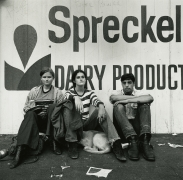 Haight Ashbury (group in front of Spreckel sign), 1968