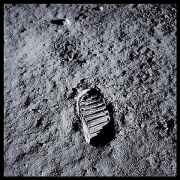 048, Post-Contact Lunar Soil, Imprinted for the Next 2 Million Years, Apollo 11, July 16-24, 1969, digital c-print, 24.5 x 24.5 inches