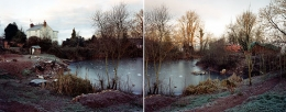 January 1997 (diptych), from The Upton Pyne Series, chromogenic dye coupler prints, 27 x 34 inches (each)