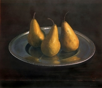 Still Life with Pears, 1998, hand-colored gelatin silver print