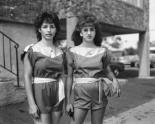 Two Girls in Matching Outfits, 1983-84