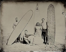 (09.02.03) #5 Group, 2009, unique tintype,