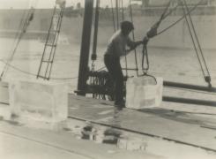 Roland E. Schneider, Loading Ice, c. 1932