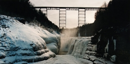 John Pfahl, Ice Falls, Upper Portageville Falls, Letchworth Park, New York, 1989, Ektacolor print, 24 x 30 inches