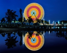 Giant Wheel and Reflection