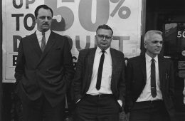 Spectators at a public demonstration, 1968