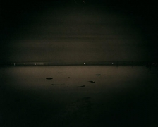 The Salton Sea, from Poe Road, 2002, palladium print