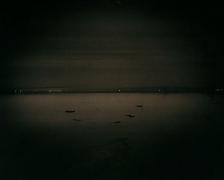 The Salton Sea, from Poe Road, 2002, palladium print