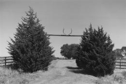 Elk Antler Ranch Gate, Kansas, 1977