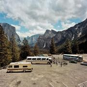 Tour Buses & Motorhome at Inspiration Point, Yosemite National Park, California