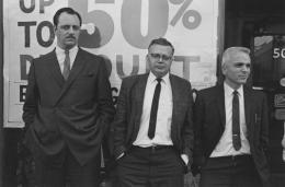 Spectators at a public demonstration, Detroit, 1968