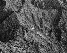 Wall, Sierra del Rosario, Sonora, carbon pigment print, 42 1/2 x 52 inches