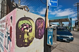 Baby Brain and Payphone, Los Angeles, California, 2011