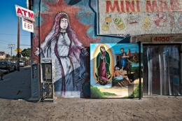 Two Virgins of Guadalupe and Mini Mart, Los Angeles, California, 2011