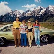 Family at Grand Tetons National Park, Wyoming