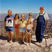 Family with Grandpa at South Rim, Grand Canyon National Park, Arizona