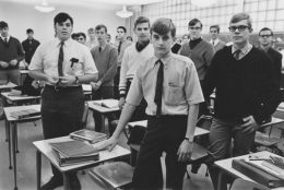 Students at a Jesuit high school, Detroit, 1968