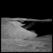 072, Hadley Rille: 80 Miles Long, 1 Mile Wide  and 1000 Feet Deep, Apollo 15, July 26-August 7, 1971, digital c-print, 24.5 x 24.5 inches