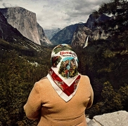 Roger Minick, Woman with Scarf at Inspiration Point, Yosemite, CA