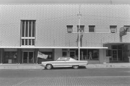 Car and Flag, Kansas, 1977