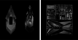 F-117 Nighthawk, 2005, carbon pigment print, 24 3/4 x 24 3/4 inches each