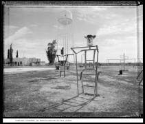 Schoolyard Playground, Gila Indian Reservation, Bapchule, Arizona, 1988, vintage gelatin silver print