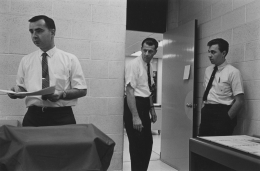 Office workers 1968, vintage gelatin silver print