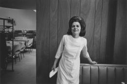 Waitress in an empty restaurant, Detroit, 1968