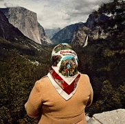 Roger Minick, Woman with Scarf at Inspiration Point, Yosemite National Park, CA