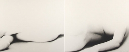 Shadow Figure, 1962, two vintage gelatin silver prints, 15 x 26 inches